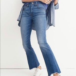 Madewell Cali Boot Cut Cropped Jeans